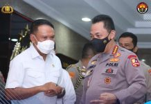 Menpora Zainudin Amali bertemu Kapolri Jenderal Pol Listyo Sigit Prabowo